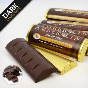 Бельгийский темный шоколад, батончик без сахара, без глютена, низкоуглеводный