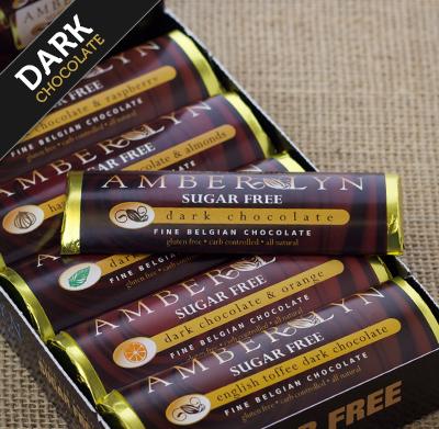 Бельгийский темный шоколад, батончик с орехом, без сахара, без глютена, низкоуглеводный