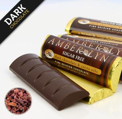 Темный шоколад с какао бобами, батончик без сахара, без глютена, низкоуглеводный