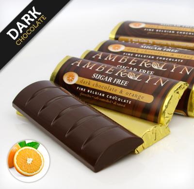 Темный шоколад с апельсином, батончик без сахара, без глютена, низкоуглеводный