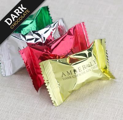 Ассорти из темных шоколадных трюфелей, без сахара, без глютена, низкоуглеводный