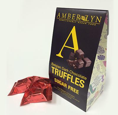 Двойные шоколадные трюфели, без сахара, без глютена, низкоуглеводный - 204 грамм