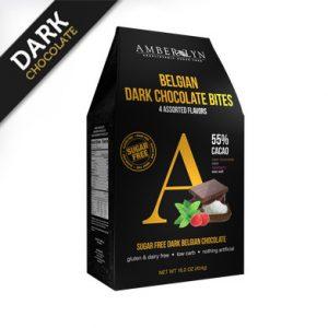Ассорти из темных шоколадных плиток, без сахара, без глютена, низкоуглеводный