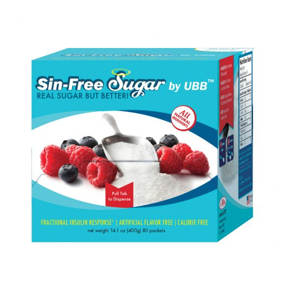 Sin-Free Sugar: Упаковка из 80 пакетиков по 5 грамм
